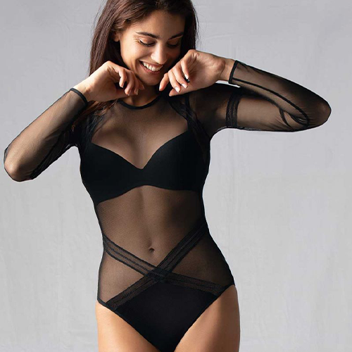 Antigel Long sleeves bodysuit Soir Adrénaline Black