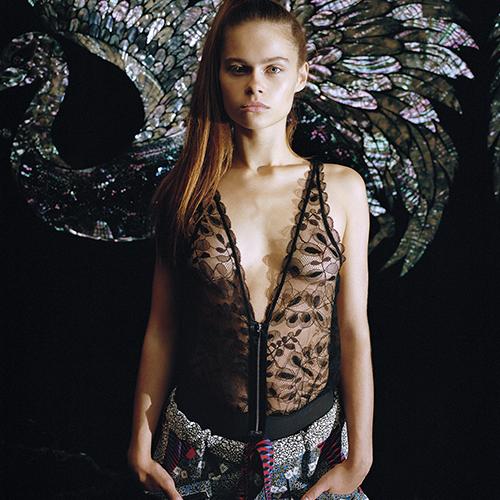 Chantal Thomass Bodysuit Fuji Black