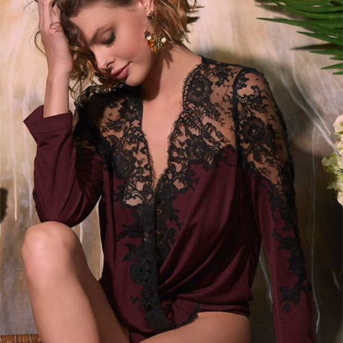 Body Lettie Aubergine-noir
