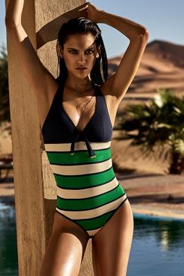 Agata green stripes