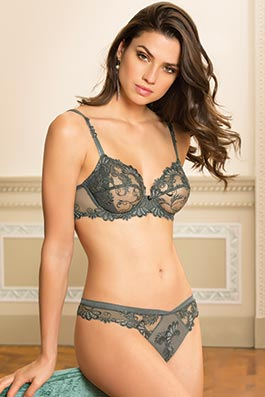 Dressing Floral heavenly gray