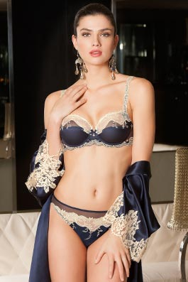 Splendeur Soie  navy splendor