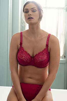 Deauville Dentelle persian red