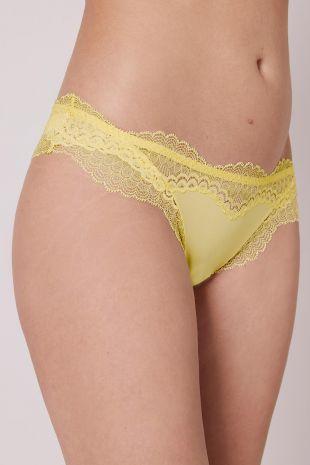 tanga Simone Pérèle Eclat citron frappé jaune 13N710 1
