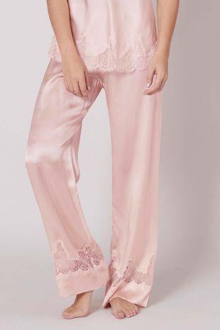 pantalon Simone Pérèle Nocturne poudre rose 17F660 1