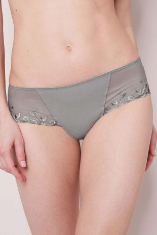 shorty coton Simone Pérèle Andora métallique gris 131635 1
