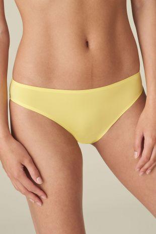 slip brésilien Marie-Jo Haute Lingerie Color Studio Smooth ananas jaune 0521510 1