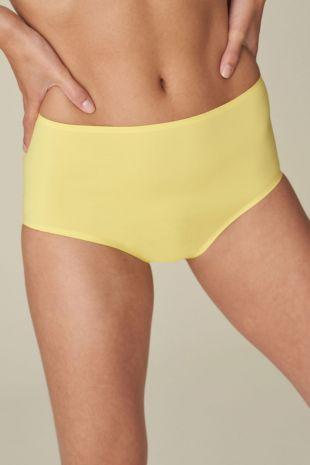 slip taille haute Marie-Jo Haute Lingerie Color Studio Smooth ananas jaune 0521511 1