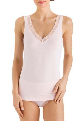 top  Hanro Cotton Lace powder peau 072435 1